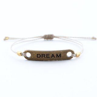 DREAM string adjustable bracelet / Waterproof bracelet