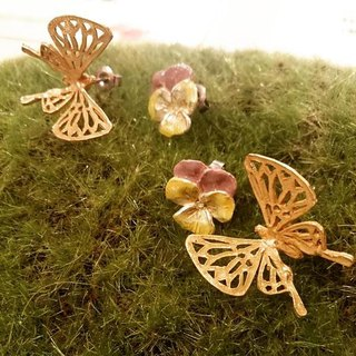 The Butterfly of Memory Memory butterfly earrings / earrings PA 170