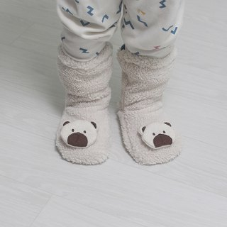 baby white bear wool warm winter socks