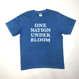 【Order Production】 Indigo dyed Aizen - ONE NATION UNDER BLOOM TEE