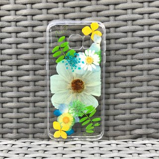 Samsung Galaxy S7 edge 手机壳 Handmade Dry Pressed Flowers Case 押花 干燥花 压花 005