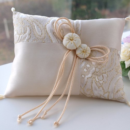 Wedding Japanese-style ring pillow [Hana]