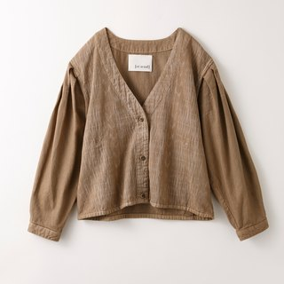 Cage pattern short cardigan brown 8514-08009-85