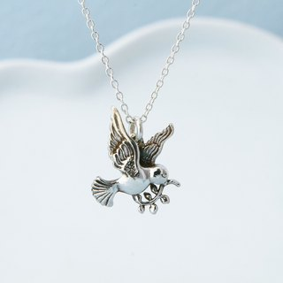 My Sweetie 手作纯银项链 / 和平鸽 / handmade silver necklace peace dove