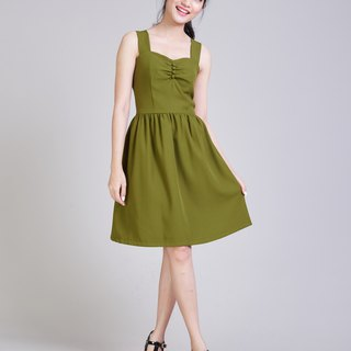 Shoulder straps Dress Olive Green Dress Mini Dress vintage Boho Modern Dress