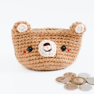 Coin purse - Crochet the Bear (Brown) | Crochet Coin Case.
