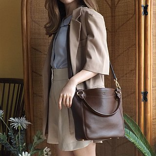 Honey : Dark choco, Tote bag, Cow Leather bag