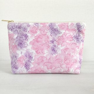 Joy Flowery gusseted pouch Purple × Pink