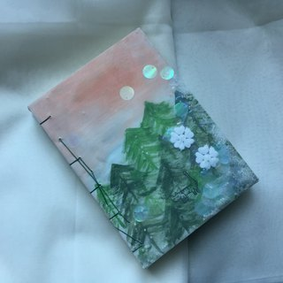 猫咪 森林 | 原创手绘 Notebook Painting Handmadenotebook Diary 筆記本 手帐 禮物