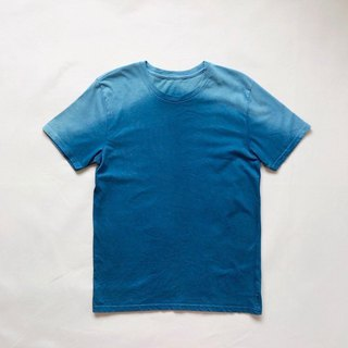 Indigo dyed Indigo organic cotton - Mountain TEE size S
