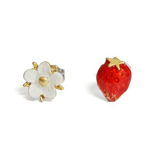 Spring strawberry earrings PA438