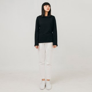hao Black Long Sleeve T-Shirt 黑色纯棉长袖