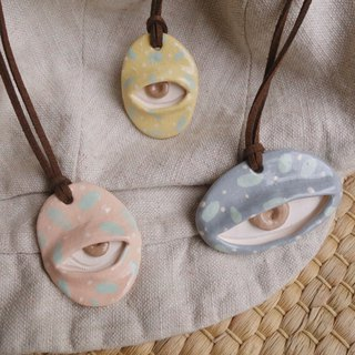 Ceramic necklace big eye monster :)