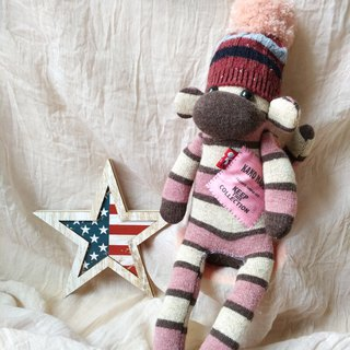 socksmonkey/pink×brown stripe girl