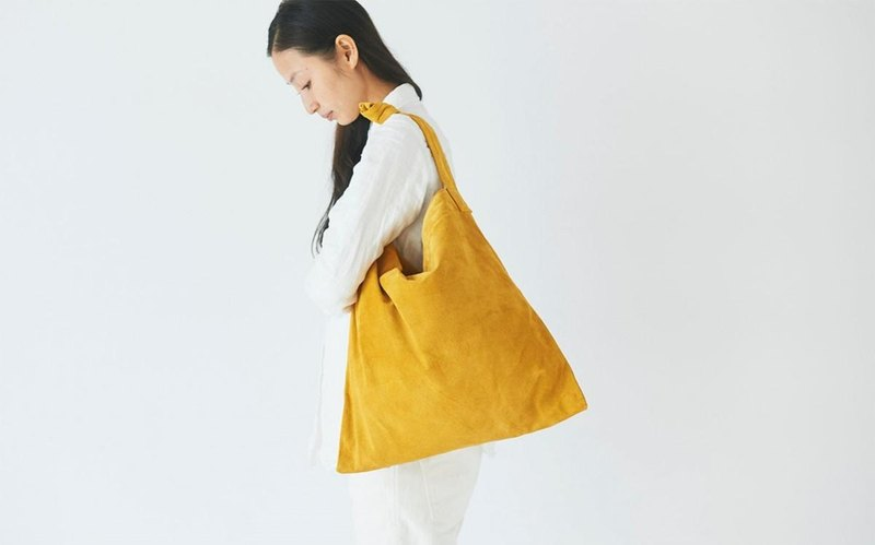 Leather Thailand shoulder mustard