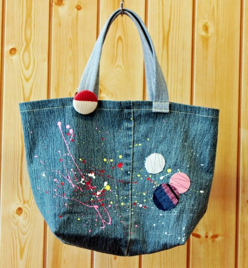 Denim tote (Space series) no.9