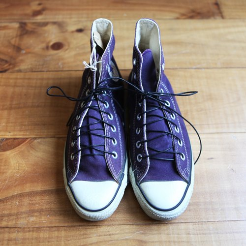 Rolling on [vintage] SC-0944 CONVERSE ALL STAR 90's 紫色皮绳高统帆布鞋