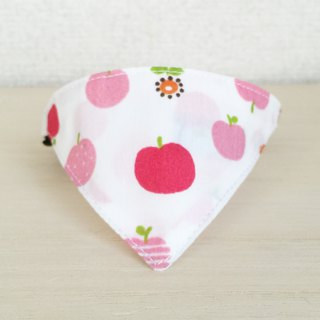 Bandana style collar for apple pattern cats Safety buckle safety collar