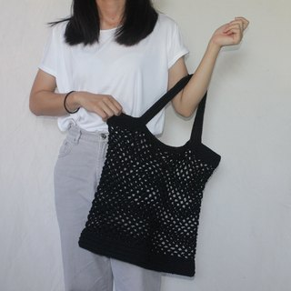 Black Net bag ,Market bag ,Black Crochet Tote bag ,Shopping bag