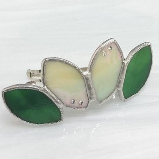 Stained glass bulletta 【Leaf】 leaf green leaf