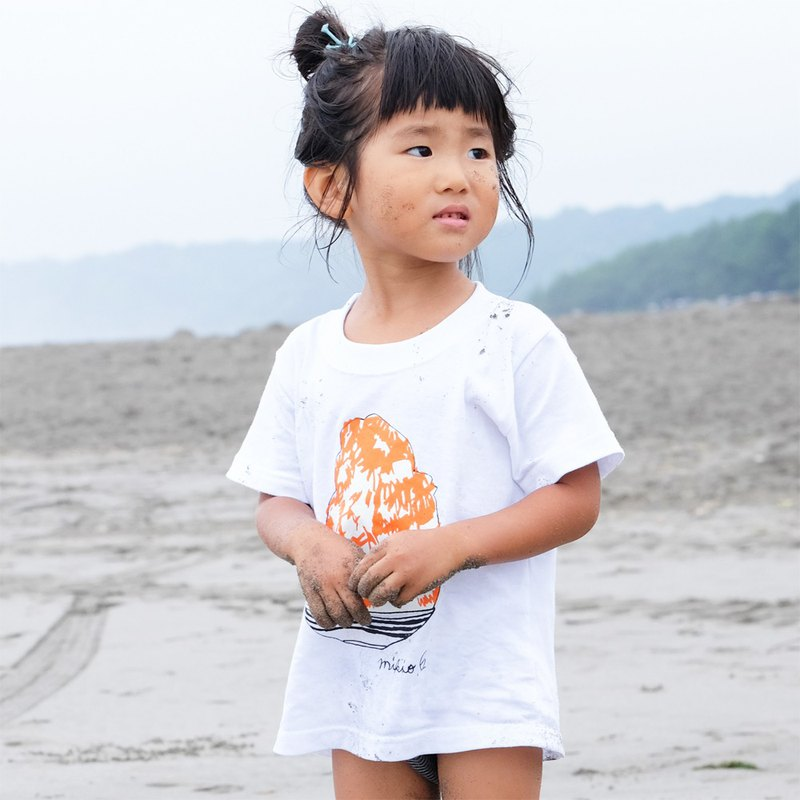 刨冰 Kakigori Shaved ice  Kids T-shirt Orange