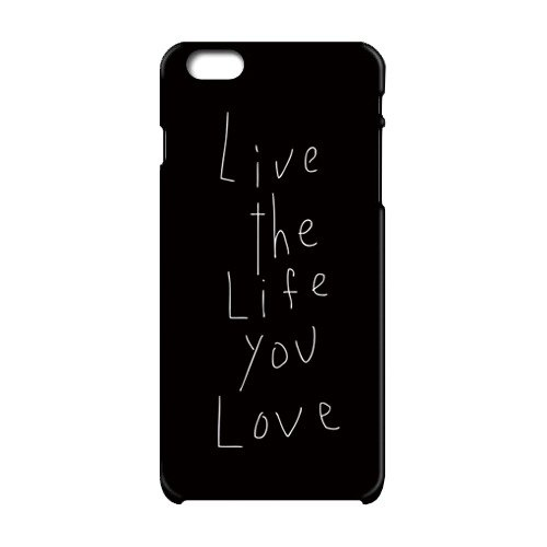 Live the life you love iPhone case (black)