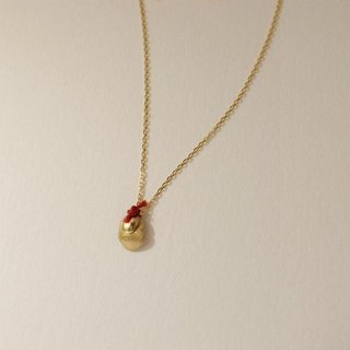 18 karat gold necklace: Layer Red