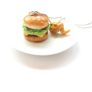 Hamburger+chicken Necklace