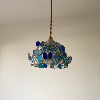 Pendant light Romantic night papillon blue glass Bay View