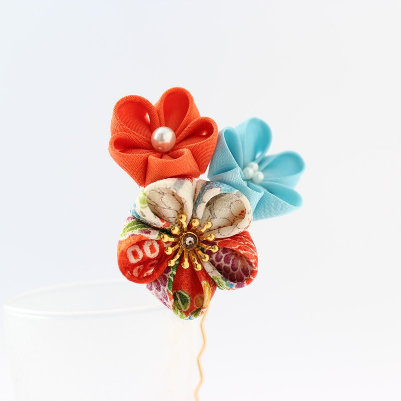 japanese taste kanzashi flower hair ornament