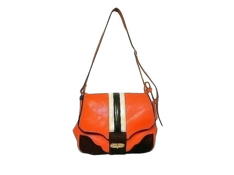 Orange & Calfar Shoulder Bag
