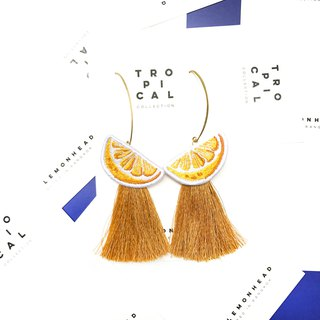 Lemon Earrings MUSTARD TASSEL