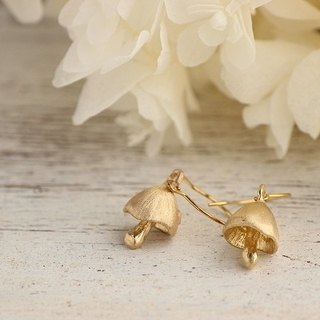 K18GP mushroom earrings