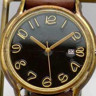 "Hand made watch Hand Craft Watch DATE ""JB - DATE"" JUMBO Brass DATE (date) Color dial black [JUM 31 DATE BK / BR]"