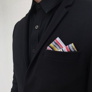 CAVEMAN Pocket Square - Japan Colourful Stripes