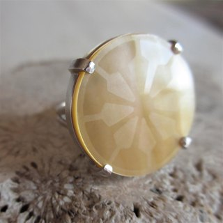Japanese Pattern Silver Ring Large