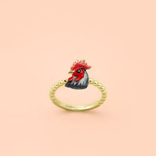 Rooster Ring - Chinese zodiac animals. Sign - Zign Collection , 公雞年