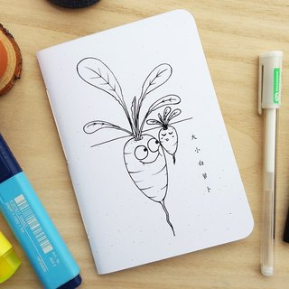 Raddish Small Notebook, A6 size (Homegarden series)