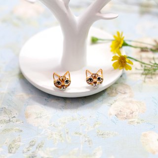 Bengal cat Earrings, Cat Stud Earrings, cat sculpture, cat lover gifts