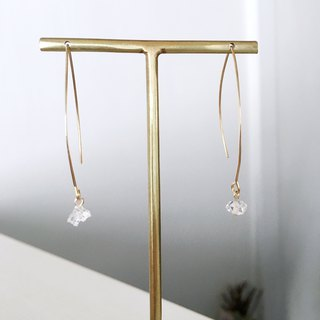 Herkimer's diamond earrings with gemstones