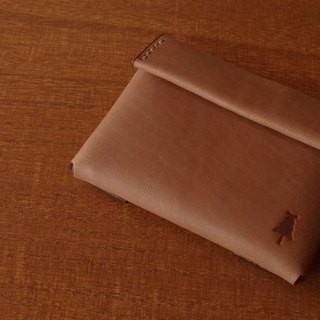 [MTO] compact wallet #brown
