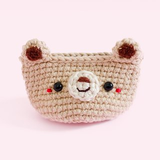 Coin purse - Crochet the Bear (Light Brown) | Crochet Coin Case.