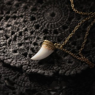 Fang Necklace by Defy/Hand-Painting Version/Charm Fang Necklace/Fang Pendant/Rock Charm Necklace