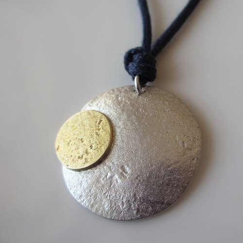 [MOON] Silver / Brass Necklace