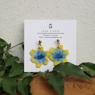 Yellow flower earring