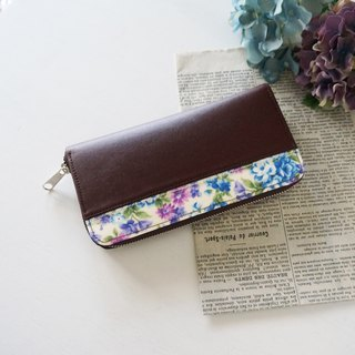 Violet long zip long wallet