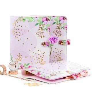 "A5 Planner ""Purple flower dream"" including matching set of dividers"