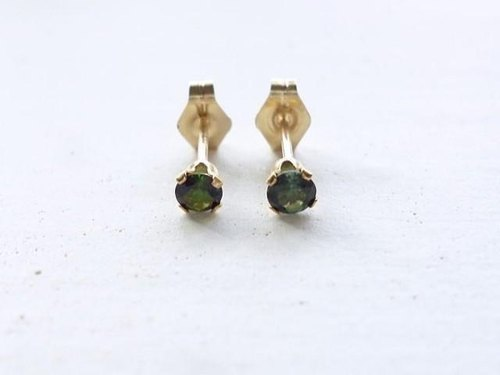 Every Day earrings green tourmaline
