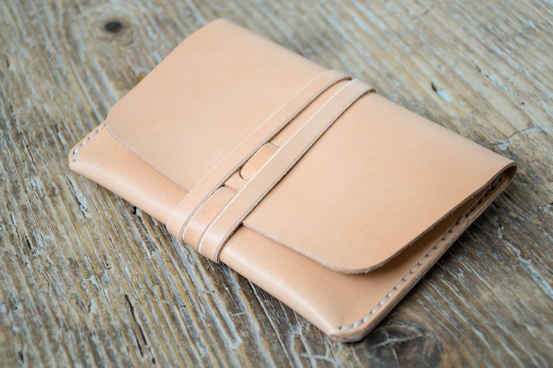 Leather passport holder cover, veg tan leather travel wallet, cash card holder, hand stitched, for men & women