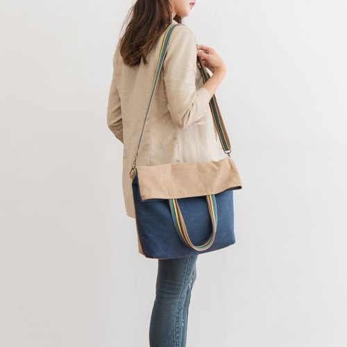 Navy Handbags totes,Canvas Shoulder Bag